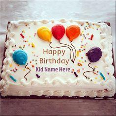 Write Name On Happy Birthday Wishes cake For Kids Happy Birthday Kind, Birthday Cake Write Name, Birthday Cake Clip Art, Friends Birthday Cake, Happy Birthday Cake Pictures, Birthday Cake Writing, Happy Birthday Wishes Photos, Birthday Sheet Cakes, Happy Birthday Wallpaper