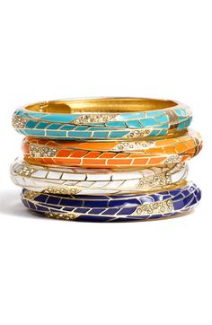 Sequin Small Insect Wing Enamel Bangle - One of each, please :)