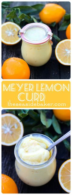 Easy Meyer Lemon Curd that is perfect for cakes, cookies, toast, or simply to eat with a spoon. Recipe by The Seaside Baker