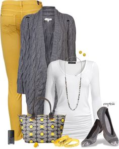 """Contests: Yellow And Gray with Bangles"" by exxpress on Polyvore"