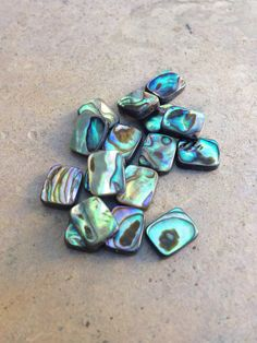 Abalone Beads rectangle 18 loose beads 10 x 8 by marketplacebeads
