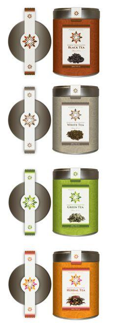 Pekoe tea designs packaging and labels PD