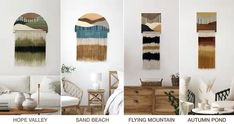 Wood tapestry is one of a kind wall decor
