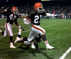 The former first-round pick and three-time Pro Bowl pick was a running back, receiver and return specialist during his NFL career. Cleveland Team, Cleveland Browns Football, Cleveland Indians, American Football League, National Football League, Football Players, Football Helmets, Falcons Football, College Football