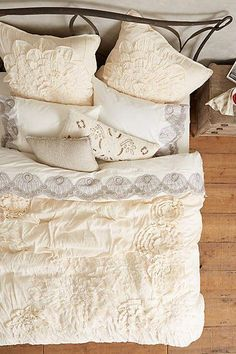 Anthropologie Georgina Duvet Cover #masterbedroom #bedroom #pillows #duvet #bedroomideas #homedecor #rusticbedroom #rustic #farmhouse #affiliate