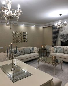 salon Ensembles - Luxe Home Furnishings Classy Living Room, Cute Living Room, Living Room Decor Cozy, Living Room Sofa, Home Room Design, Living Room Designs, Luxury Homes Interior, Home Decor Furniture, Sofa Design