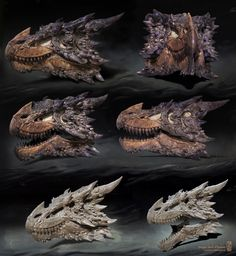 First in a series of 3 photo realistic Dragon skulls I have sculpted in Z-brush. I also poly-painted this on in Z-brush. Trying to pick up new skills this year. Working on getting 3D prints done too ;)