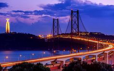 """""""Myth: Contrary to what you might have heard, the company that built the 25 de Abril Bridge did not build the Golden Gate. Visit Lisboa, Most Beautiful, Beautiful Places, Find Hotels, Pilgrimage, Holiday Travel, Golden Gate Bridge, San Francisco Skyline, Spain"""