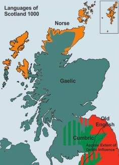 Languages of Scotland throughout history - Vivid Maps Uk History, British History, Local History, Who Were The Celts, Scotland Map, Scotland History, Map Of Britain, Writing Genres, Old World Maps