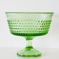 I'm thinking of adding punches of green to my living room color palette. This candy dish is the perfect accessory.