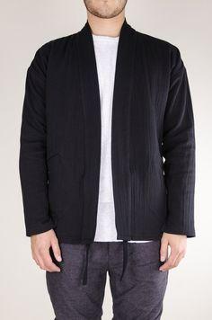 Noragi 2-Ply Crinkle Cotton Black
