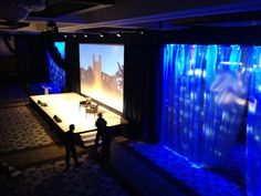 Active Production and Design Corporate Division creates another wide screen and LED lighting presentation. Simple yet sleek!