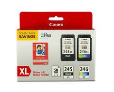Canon PG-245XL/CL-246XL/GP-502 Ink Combo Pack, Compatible to:MX492, PIXMA MG2420, PIXMA MG2520, PIXMA MG2920, PIXMA MG2922, PIXMA MG2924, PIXMA MX492, PIXMA iP2820