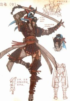 Tumblr character designs from Monster Hunter Illustrations Vol. 2