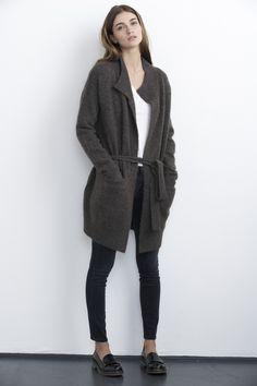 Belted Boucle Sweater ::Oversized Cover-Up ::Velvet by Graham & Spencer
