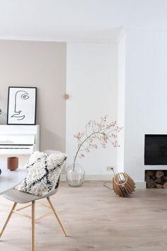 Herfst gevoel in de woonkamer met deze rozenbotteltak