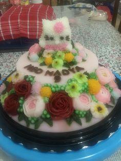 Jelly Cream, Cream Art, Cream Flowers, Pudding, Cake, Desserts, Food, Jelly, Tailgate Desserts