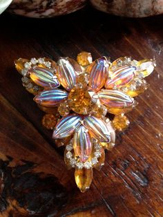Vintage DE Juliana Brooch by Vintageimagine on Etsy