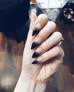 Fails design red and black ombre New Ideas – Adela Davis Fails design red and black ombre New Ideas 20 Simple Black Nail Art Design Ideas Black Ombre Nails, Black Stiletto Nails, Black Nail Art, Black And Nude Nails, Dark Ombre, Cute Nails, Pretty Nails, Witch Nails, Beauty Hacks For Teens