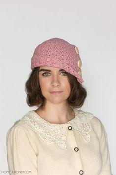1920s Rosebud Cloche Hat Crochet Pattern - Giveaway