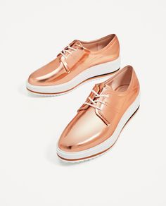 5a8630086173e METALLIC FLATFORM BLUCHERS-View all-SHOES-WOMAN