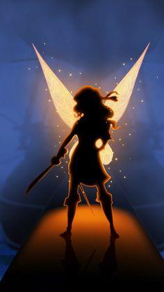 zarina pirate fairy silouhette   Pirate fairy silhouette HD samsung galaxy s4 wallpaper