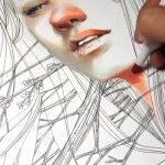 Beautiful Marker and Pen Portrait Time-lapse