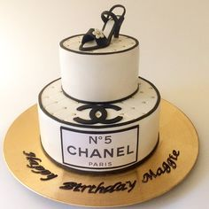 You have to see Black And White Chanel Cake by Epic Cake NYC!