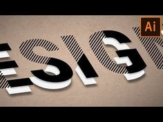 (4) Type Design | Illustrator Text Effect Tutorial - YouTube