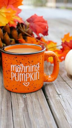 Morning, Pumpkin mug #autumn #fall