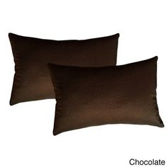 Sonic Quilted Florentine Microfiber Throw Pillow (Set of (Chocolate), Brown, Size Specialty (Polyester, Textured)