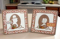 Mr. & Mrs. Pilgrim Cricut cards