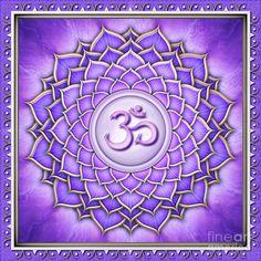 Chakra Sahasrara - The Crown Chakra. Artwork & Design by Dirk Czarnota. Chakra Meditation Music, Chakra Healing Music, Arte Chakra, Chakra Art, 7 Chakras Meaning, Chakra Symbole, Spiritual Pictures, Chakra Balancing, Mandala Drawing