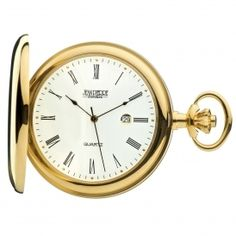 Quartz Gold Plated Full Hunter Pocket Watch. Now available at www.pocketwatch.co.uk #pocketwatch #timepiece