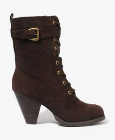Faux Suede Lace-Up Boots | FOREVER21 - 2017306052 - Love them!