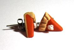 Pumpkin Pie Scented Surgical Steel Stud Earrings by adcdmc on Etsy