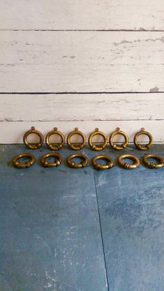 Vintage French Brass Curtain Rings/ Brass by VintageBrassRevival