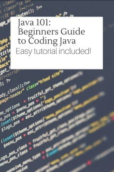 Java 101: Beginners Guide to Coding Java! Easy and fun coding tutorial included!