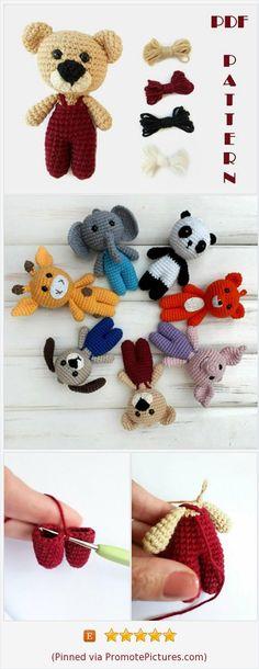 Crochet Toys Patterns, Amigurumi Patterns, Stuffed Toys Patterns, Amigurumi Doll, Knitting Patterns, Beginner Crochet, Learn To Crochet, Crochet Bear, Crochet Dolls