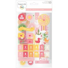 Add some fun extra details to your photos and journaling cards with the Baby Girl Edition Chipboard Stickers. With stickers in a variety of sizes and shapes, you're sure to find a perfect fit for your project!