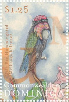 Bee Hummingbird stamps - mainly images - gallery format