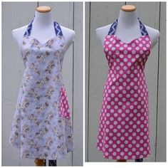 Minnie Mouse Apron Reversible Bright Pink by pieshomecreations, $28.00