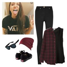 """Ally Hills outfit inspiration"" by xrejectxx ❤ liked on Polyvore featuring Versace, James Perse, Étoile Isabel Marant and Vans"
