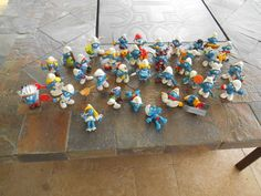 vintage lot of 36-smurf peyo figurines 70's and 80's from $29.95