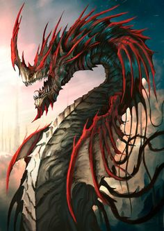 Crimson Naga by GeGig Nakarin Sukontakorn, via Behance