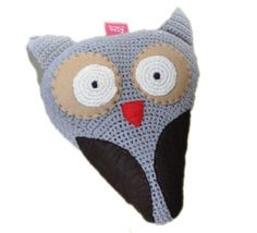 Owl bike saddle cover, crocheted - Bike Belle, the beautiful bicycle boutique online