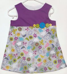 Baby Girl Dress  size 18Mo  Fly Away with Buttons by LoopsyBaby, $22.00