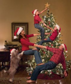 The Bale Family's Christmas. It requires an epic family with an epic dog to do this epic family portrait.