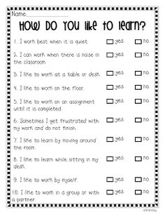 """How do you like to learn"" survey for your class #BackToSchool"