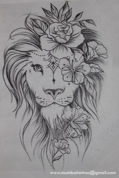 Beautiful lion drawing in the Mumbai Tattoo Piercing School. - What kind of . - Beautiful lion drawing in the Mumbai Tattoo Piercing School. – What a beautiful creative drawing - Leo Tattoos, Bild Tattoos, Celtic Tattoos, Animal Tattoos, Body Art Tattoos, Sleeve Tattoos, Tattoos Skull, Watch Tattoos, Tattoo Symbols